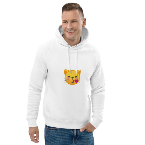 unisex eco hoodie white front 2 612def6c9a2f5