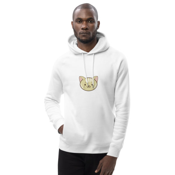 unisex eco hoodie white front 612ded11c85bf